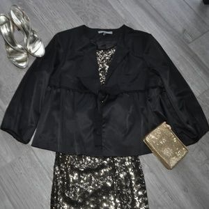 NY Collection Black Bolero Jacket